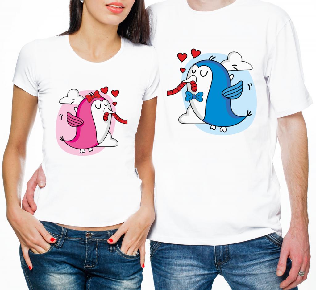 Фото парных футболок с птичками