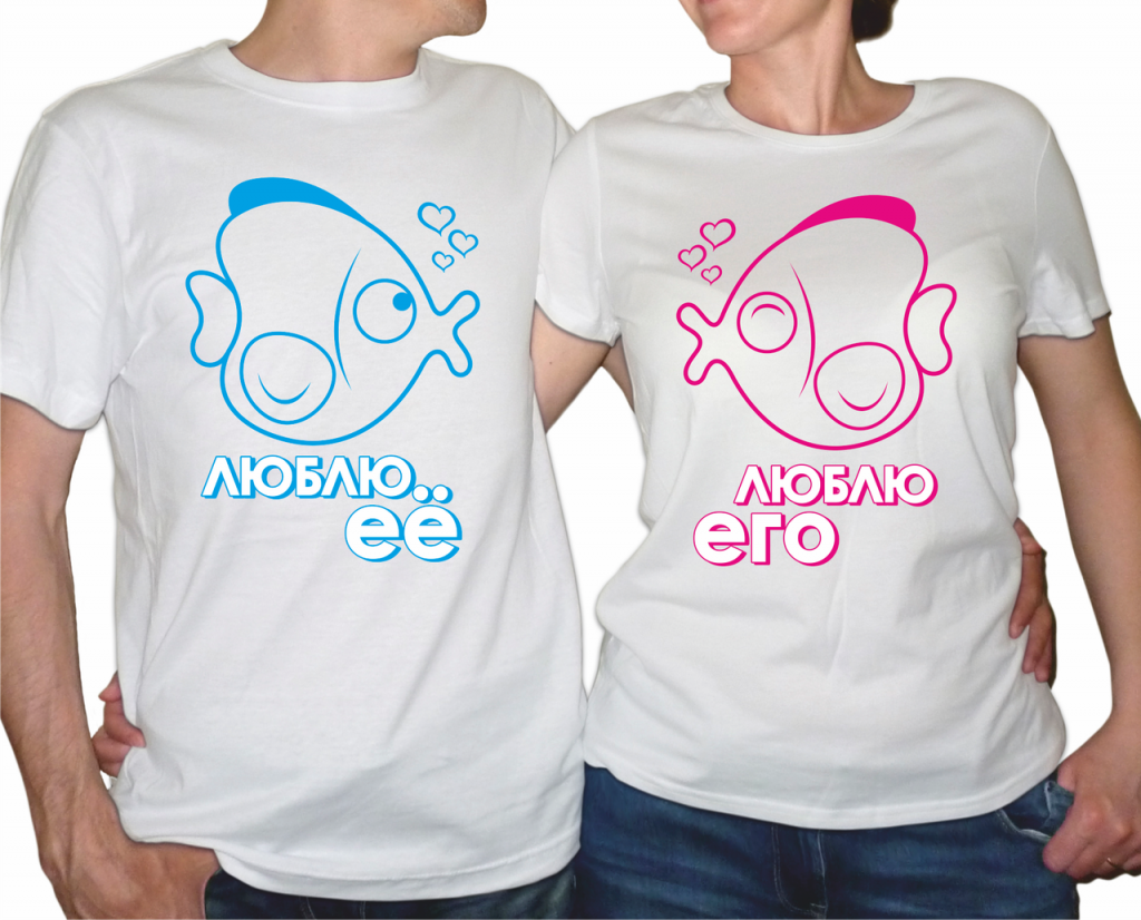 Фото парных футболок с рыбками