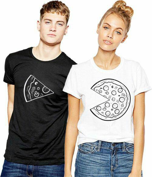 Фото парных футболок с пиццей