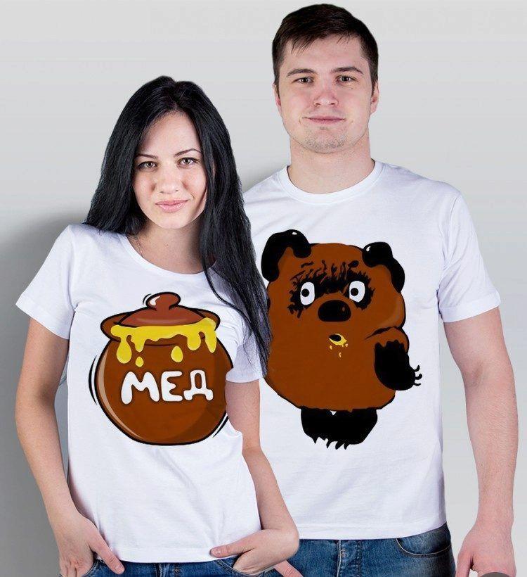 Фото парных футболок с Винни