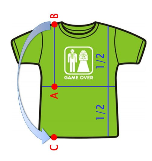Фото схемы быстрого складывания футболки