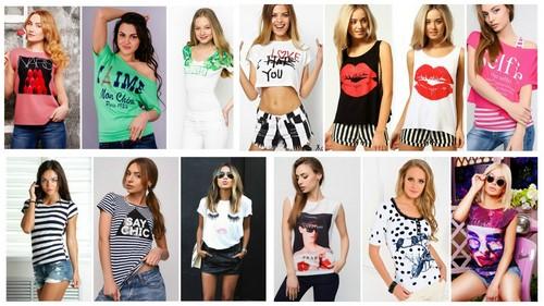 Фото крутых рисунков на женских футболках