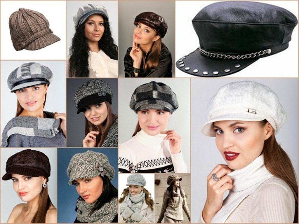 Фотографии девушек в тканевых и вязаных кепках разных фасонов