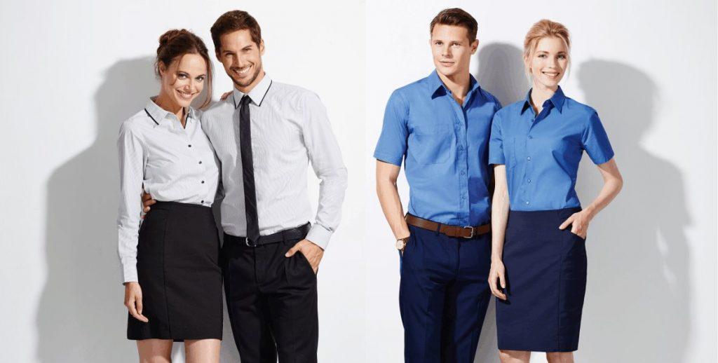 Фото корпоративной одежды для сотрудников в едином стиле