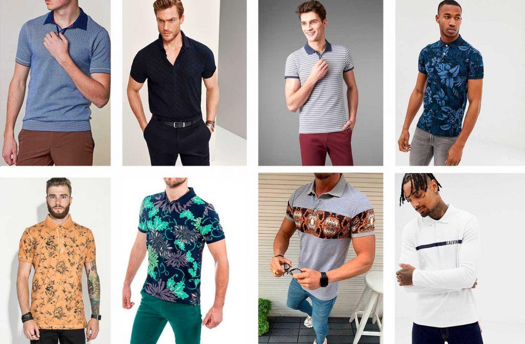 Фото разных вариантов футболок-поло со стильными рисунками и узорами