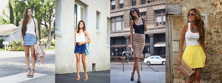 Фото девушек в майках и юбках в разных стилях